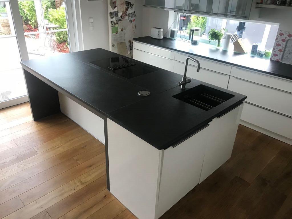 schieferplatten k che pflegen tapete k che gr n ikea. Black Bedroom Furniture Sets. Home Design Ideas